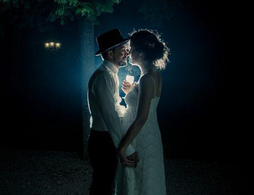 Shooting nocturne pendant le mariage